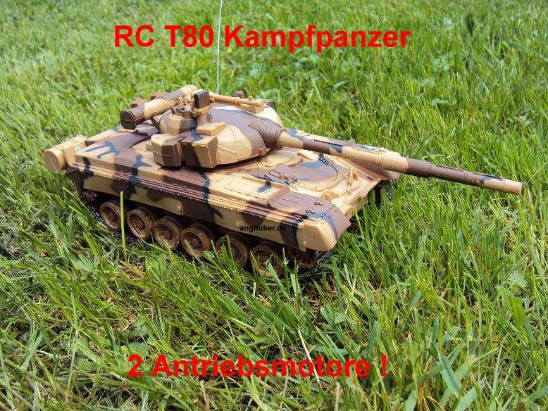 rc ferngesteuerter t80 panzer tank kampfpanzer mit vielen. Black Bedroom Furniture Sets. Home Design Ideas